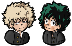 Kacchan and Deku by someother2002girl