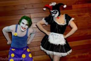 Joker and maid harley by SmilexVillainco