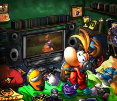 Rayman cool room by SITHSPIDERGIRL