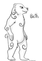Beth the Ink Bear by thesapphirewolffox by bubblesishot46853