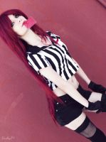 Katarina Red Card Cosplay [3] by LadyNoa