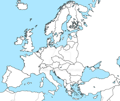 Europe with an Allied Netherlands after WW1 by poklane