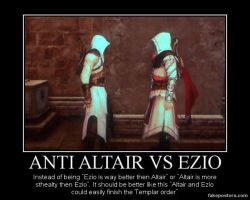 Anti Altair Vs Ezio. by JohnnyTlad