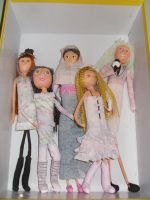 Famous fashion dolls in paper by ojamajomary