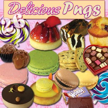 26 Delicious PNGs Pack 1 by paumyself