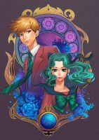 Sailor Uranus and Neptune by yukiusagi1983