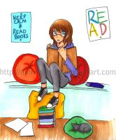 Keep Calm and Read Books by Amrow-chan
