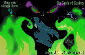 King Sombra, Nightmare Moon, Queen Chrysalis. by MysteryMelt