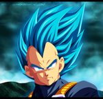 Vegeta ~ Super Saiyajin god by DarkMaza