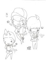 N, Dento, and Cheren are LOVE by RyuBlu