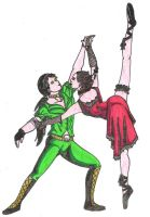 gothic dance red-green by BloodyVampres