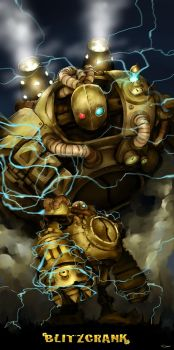 Blitzcrank, The great steam golem by DarrenGeers
