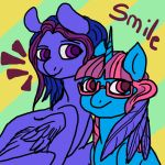 Smile for the camera you two!! by nubblebubble123