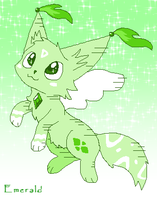 Emerald Creature thing Adopt (open) by ForeverFluffyAdopts
