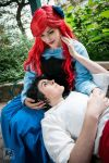 Arielle and her prince by rocknroler