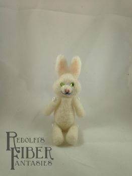 Needle Felt Easter Bunny Lil' Buddy by shadechristiwolven