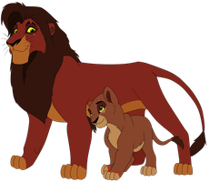 Kovu And Kyra by Samalu17