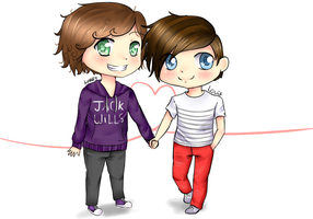 HarryxLouis Chibi by littlemary08