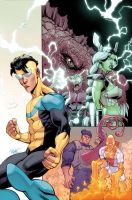Invincible TPB 15 cover by JohnRauch