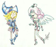 Lily and Magician girl by dark-ishida-lover