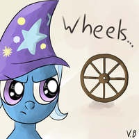 The great and powerful trixie never trust to wheel by vovab