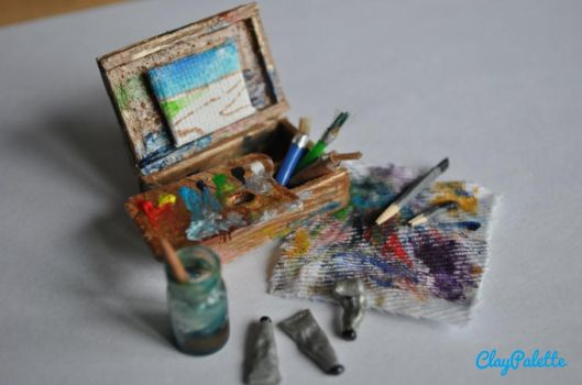 Miniature Paintbox by ClayPalette