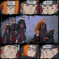 Six Paths of Pain Collage by sargas08