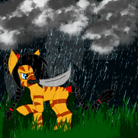 Echomist and Shimmerfog, the Storm by GliitchingTengu