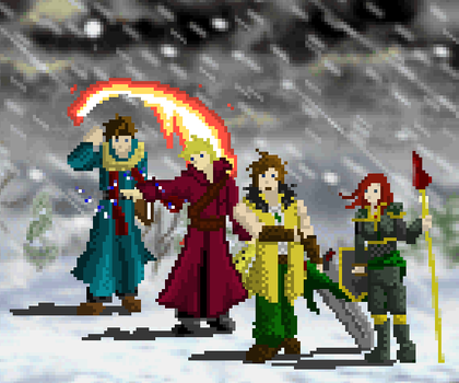 Four Adventurers by AnimaMage