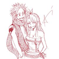 Natsu, Lucy by vinces