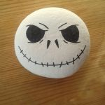 Jack Skellington Painted Stone #2 by Chiruyto