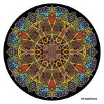 Mandala drawing 47 coloured 1.0 by Mandala-Jim