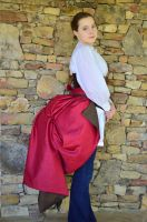 Long Bustle Overskirt - Reversible by moonbowsinc
