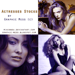 Actresses Stock Pack by Graphic Mess (c) by Mikinnou
