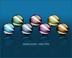 Google Earth Dock Icons by xs