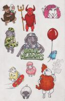 Sheeple Stickers by angelacapel