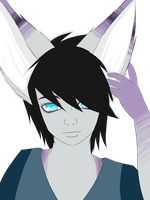 Another headshot example by Piyos-Adoptables