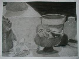 Charcoal drawing by o-BS-o
