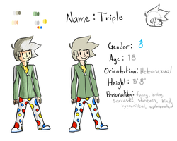 OC Reference - Triple by 3colorswirl