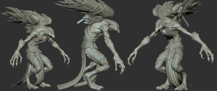 Darksiders II Sychophant Zbrush Model by GrayGinther