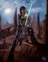 Battle Worn Female Sith by Peter-Ortiz