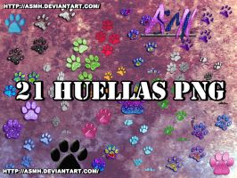 Huellas png Pack by ASMH