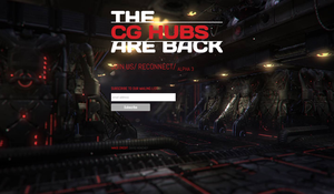 CG Hubs Landing Page by cgButterfly