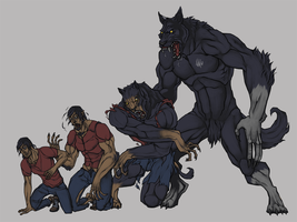 Werewolf Transformation by SlainDragon