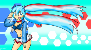 Miku: Red, White, and Blue by Xero-J