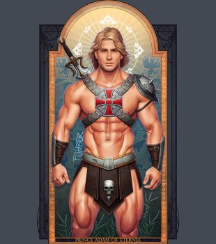 Prince Adam of Eternia (Final) by TheFuhrerDoodles