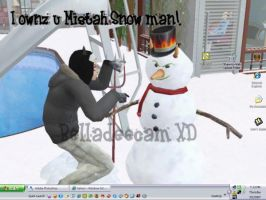 Ownz Mr Snow Man Sims Seasons by bellagirldee