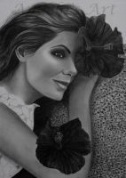 SANDRA BULLOCK by AngelasPortraits