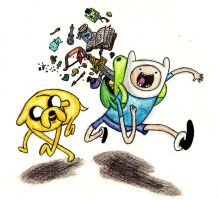 Adventure Time with Finn and Jake_re-done by thesubtle