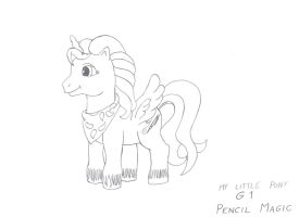 Pencil Magic in MLP G1 by MortenEng21
